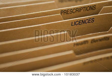 Cardboard Filing System Licences