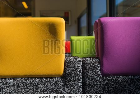Colourful Train Headrests