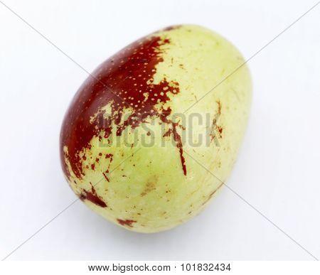 Jujube Fruit Closeup,isolated On White Background