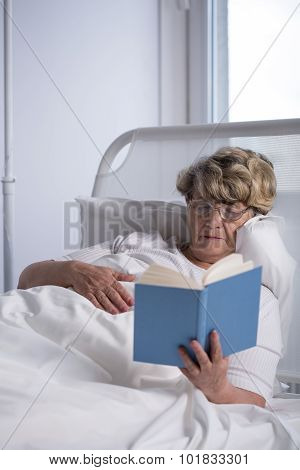 Patient Reading A Book