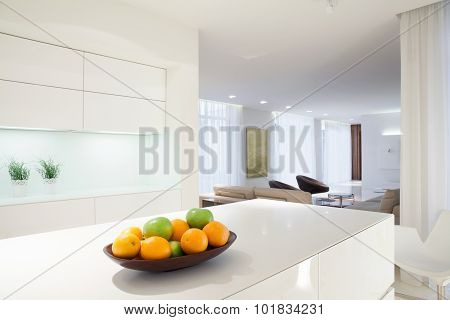 Citrus On Kitchen Worktop
