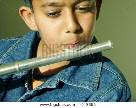 Boy Playing Flute