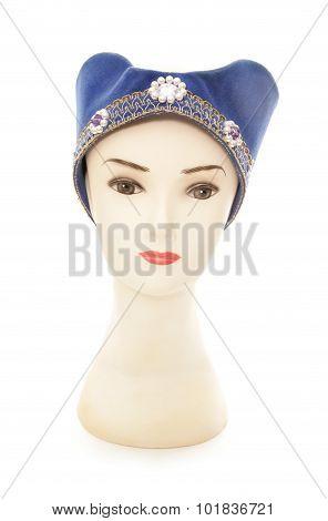 Mannequin Wearing A Tudor Princess Hat