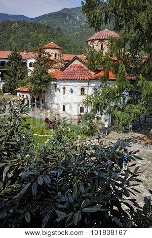 Panoramic view of Medieval Bachkovo Monastery
