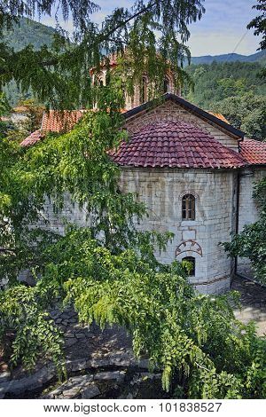Ancient church in Medieval Bachkovo Monastery