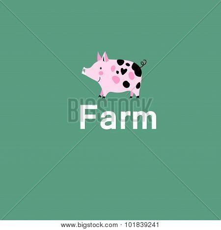Pink Pig On A Farm