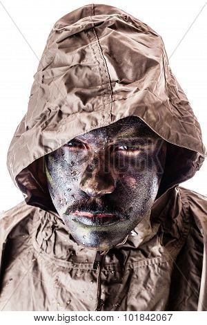 Soldier With Raincoat