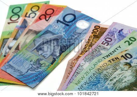 Australian And New Zealand Dollar Banknotes