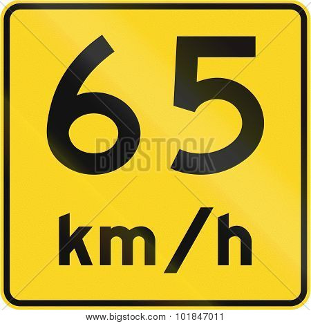 Speed Limit 65 Kmh In Canada