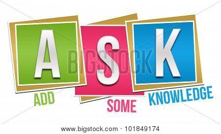 Ask Formula Colorful Blocks