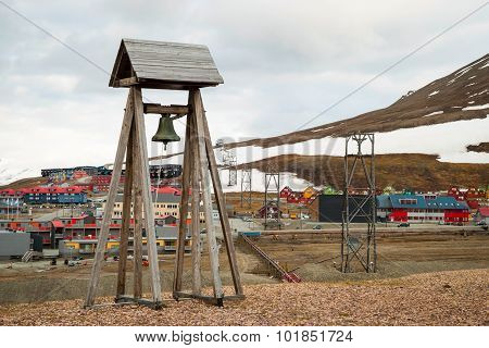 Bell Tower In Longyearbyen, Svalbard