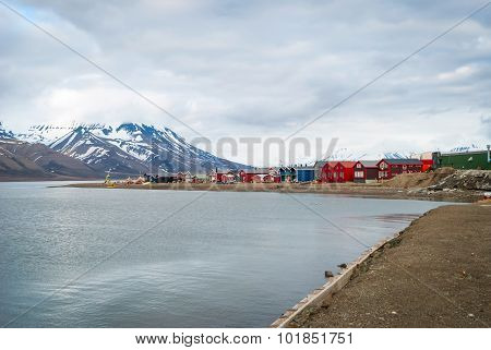 Longyearbyen City In Summer, Svalbard
