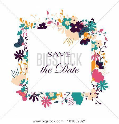 Floral vector card.