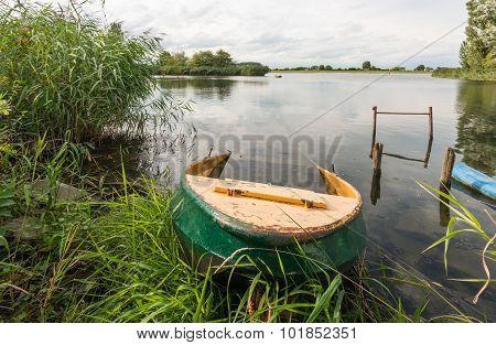Partly Sunken Iron Rowboat