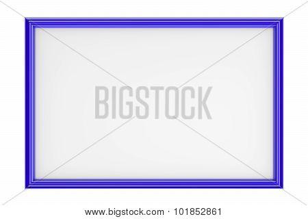 Blue Rectangular Picture Frame