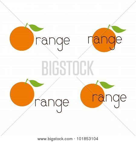 Set Of Orange Logos