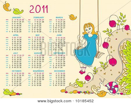 free calendar 2011 template. free calendar 2011 vector