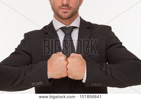 Businessman's gesture with hands