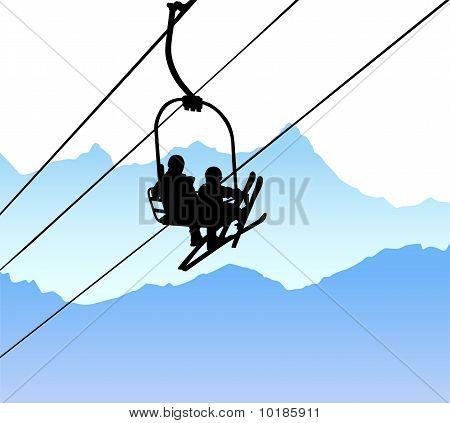 ski lift vector