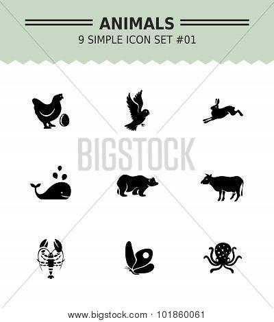 Animal icon set 1
