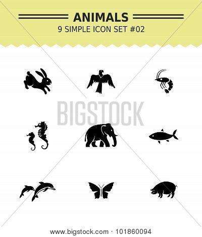 Animal icon set 2