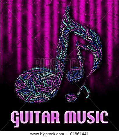 Guitar Music Represents Sound Tracks And Acoustic