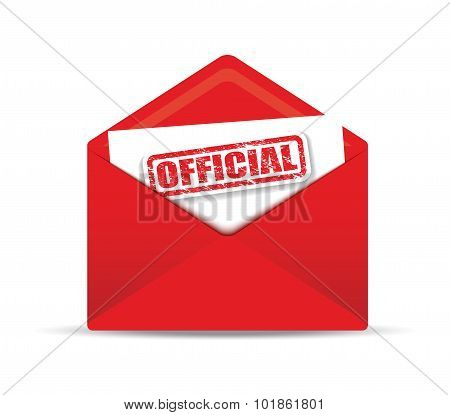 official closed envelope
