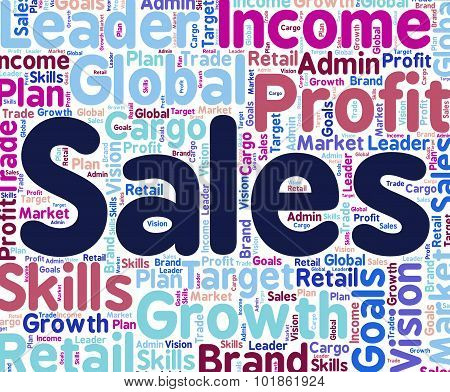 Sales Word Shows Text Retail And Words