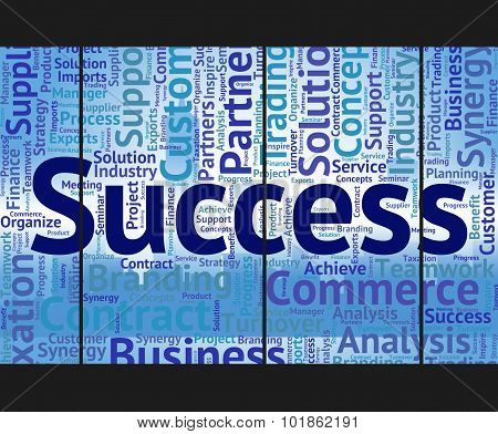 Success Word Means Victory Progress And Successful