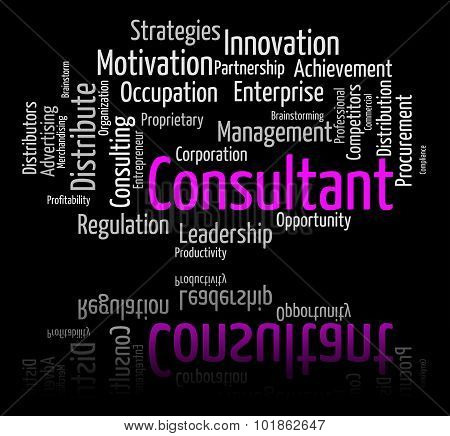 Consultant Word Indicates Advisers Wordclouds And Expert
