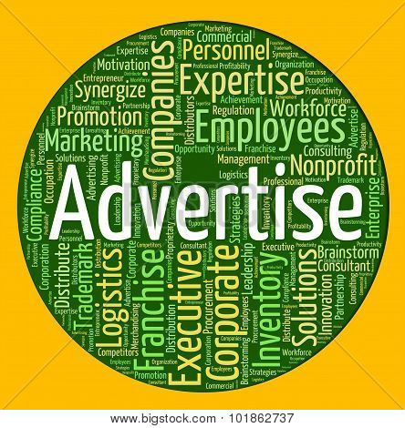 Advertise Word Shows Promote Ads And Wordcloud