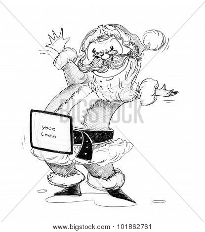 Santa Claus Outstretched Arm
