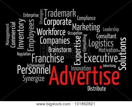 Advertise Word Means Text Promotion And Ads