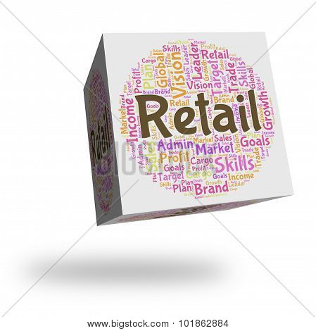 Retail Word Means Sell Words And Commerce
