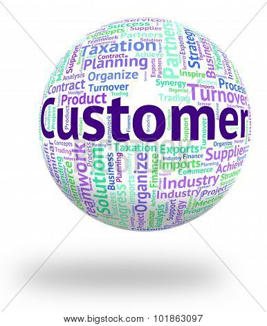 Customer Word Indicates Shoppers Consumer And Purchaser