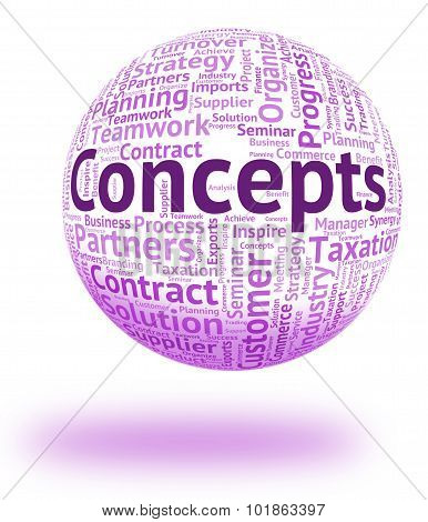 Concepts Word Represents Conception Thinking And Ideas