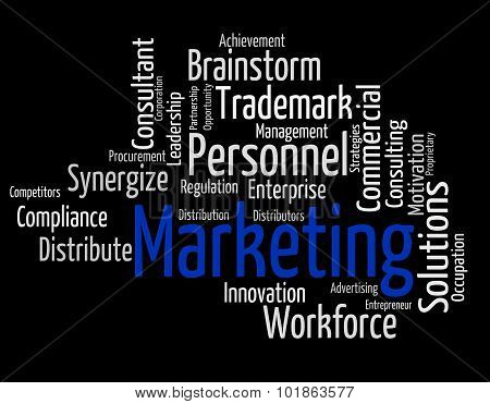 Marketing Word Means Sell Promotion And Wordclouds