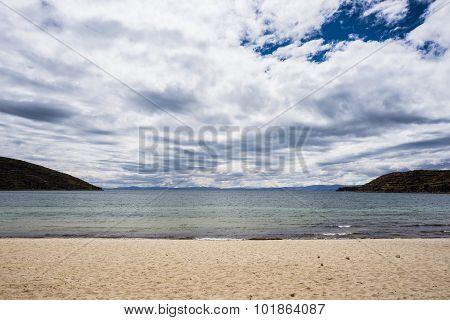 Beach On Island Of The Sun, Titicaca Lake, Bolivia