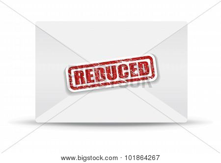 reduced white envelope