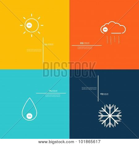 Icons indicate weather clear, cloudy, rain, snow