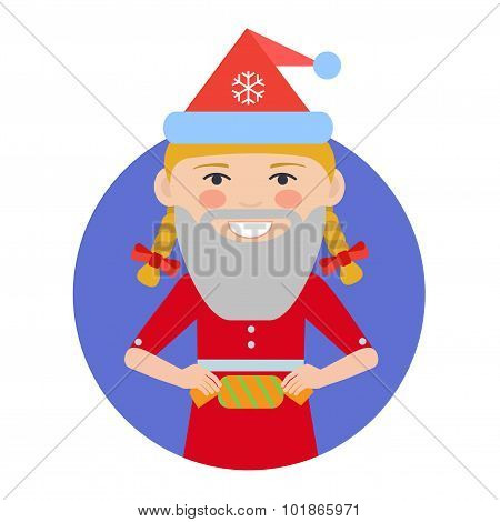 Teenage girl holding cracker