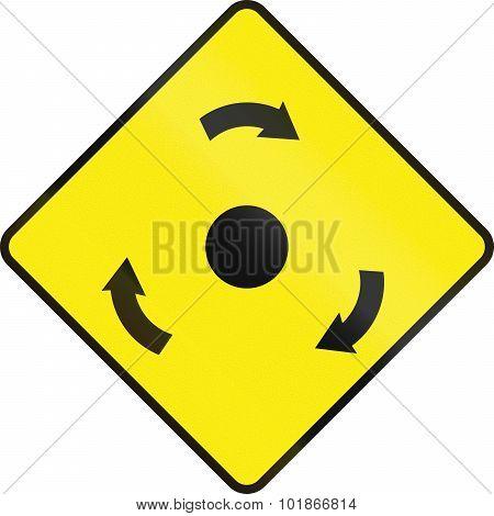 Traffic Circle Ahead In Ireland