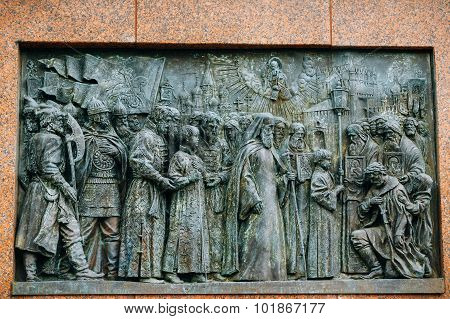 Patriarch Hermogenes monument in Moscow, Russia