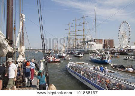 Big tallship on nautical event Sail 2015