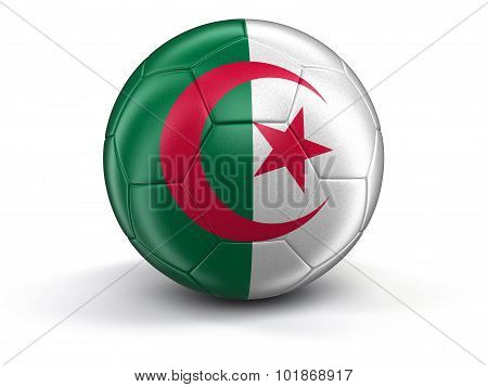 Soccer football with Algerian flag