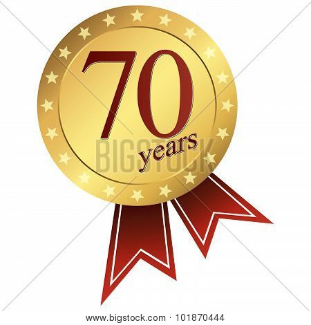 Gold Jubilee Button - 70 Years