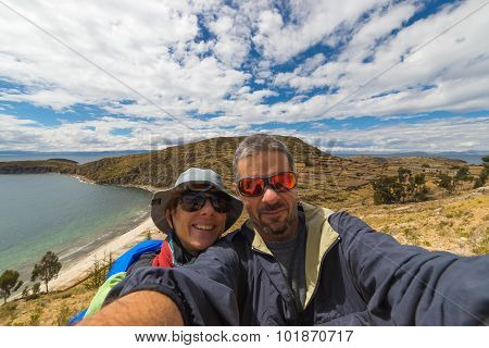 Couple Taking Selfie While Traveling
