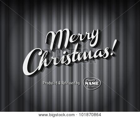 Vintage style movie still - Merry Christmas - Editable Vector EPS10