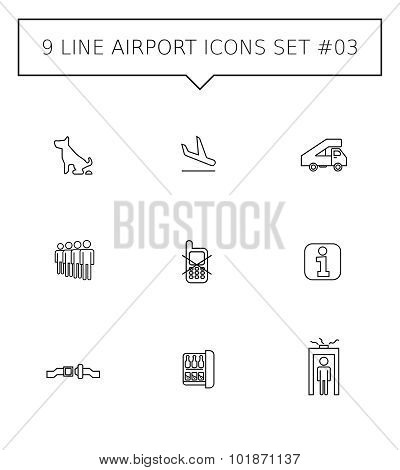 Airport icon set 2