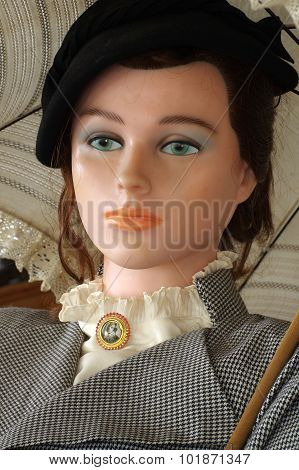 mannequin wearing clothes of retro